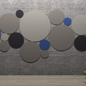 adhesive wall and ceiling panels circles