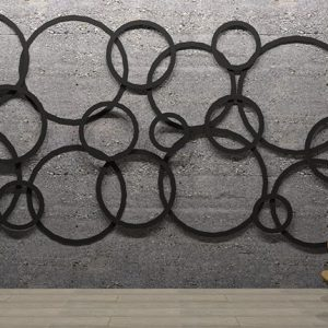 Adhesive Wall and Ceiling Panels Circles Artwork