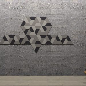 Adhesive Wall and Ceiling Panels Jointed Triangle
