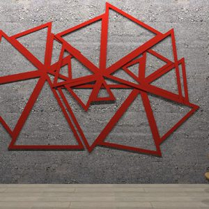 Adhesive Wall and Ceiling Panels Triangles Artwork