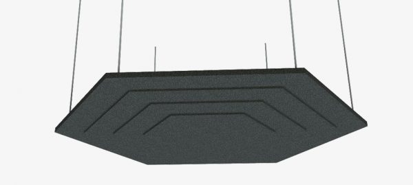 Acoustic Baffles Hexagon Stepped