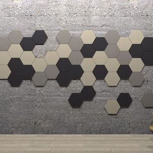 Adhesive Wall and Ceiling Panels Hexagons